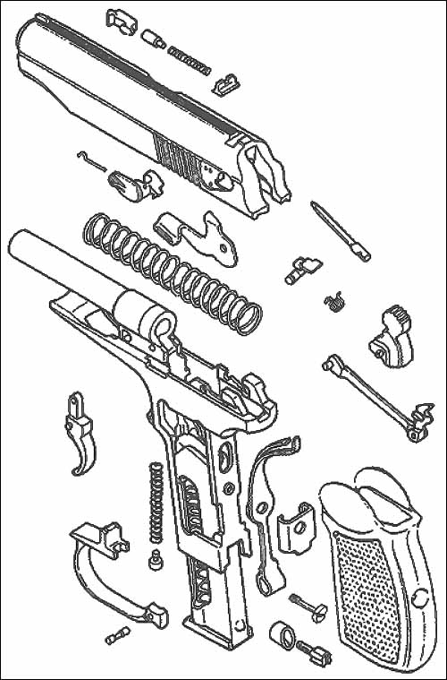 Неполная разборка пистолета